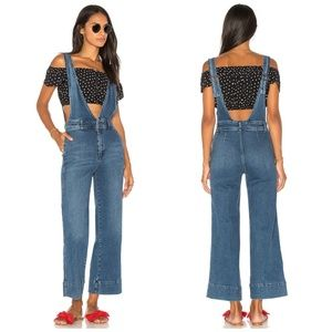 Free People A-Line Overalls Wide Leg 0